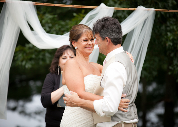 A happy moment during the wedding ceremony