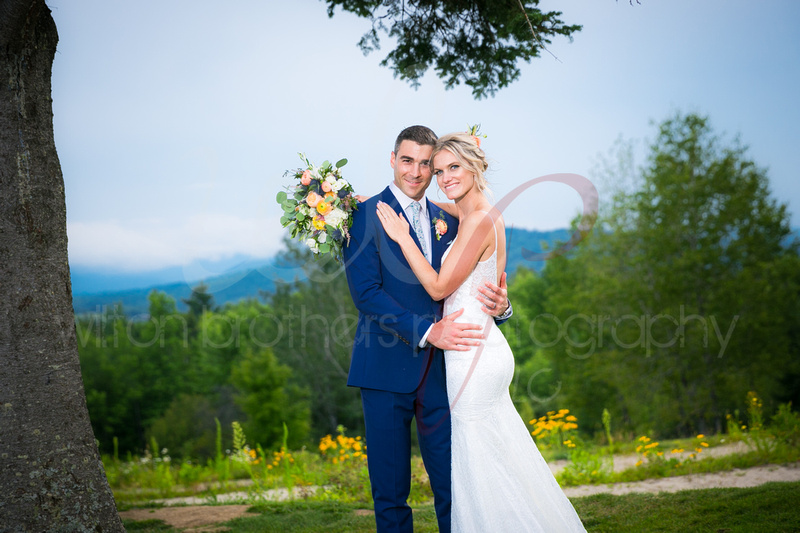 Couple smiling on their wedding day at the Mountain View Grande