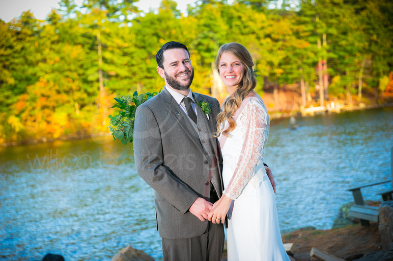 Couple married at Oliver Lodge in Meredith, NH