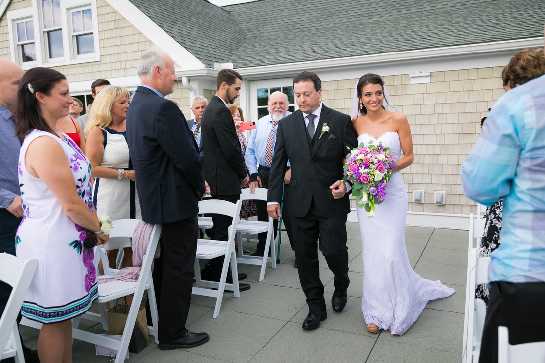 Dad walks bride down the aisle