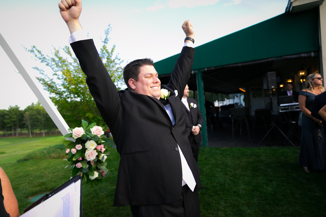 Groom excited to see his bride