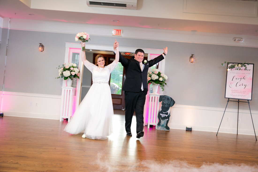 Bride and Groom introduced into reception