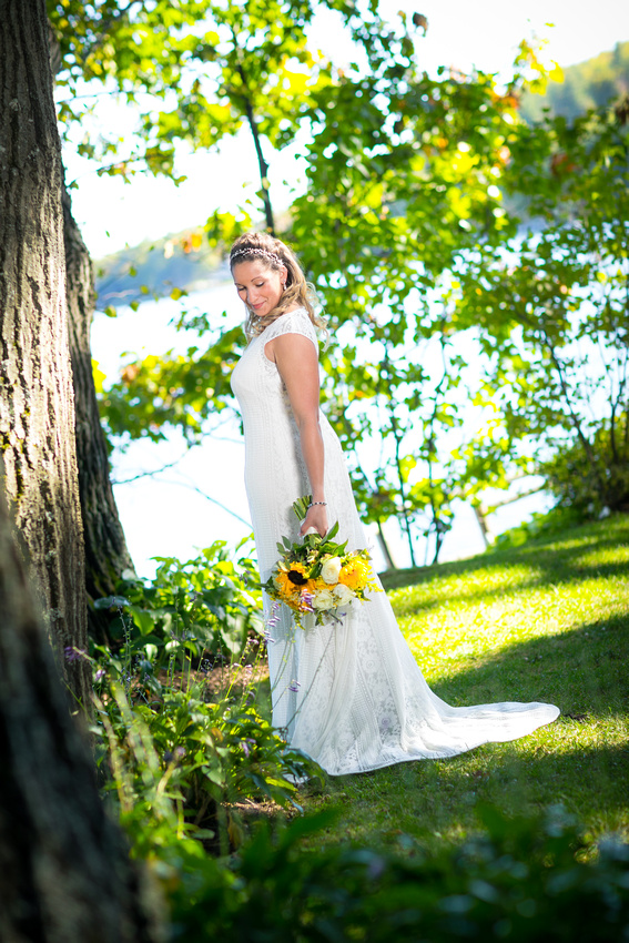 Bridal portrait at Church Landing