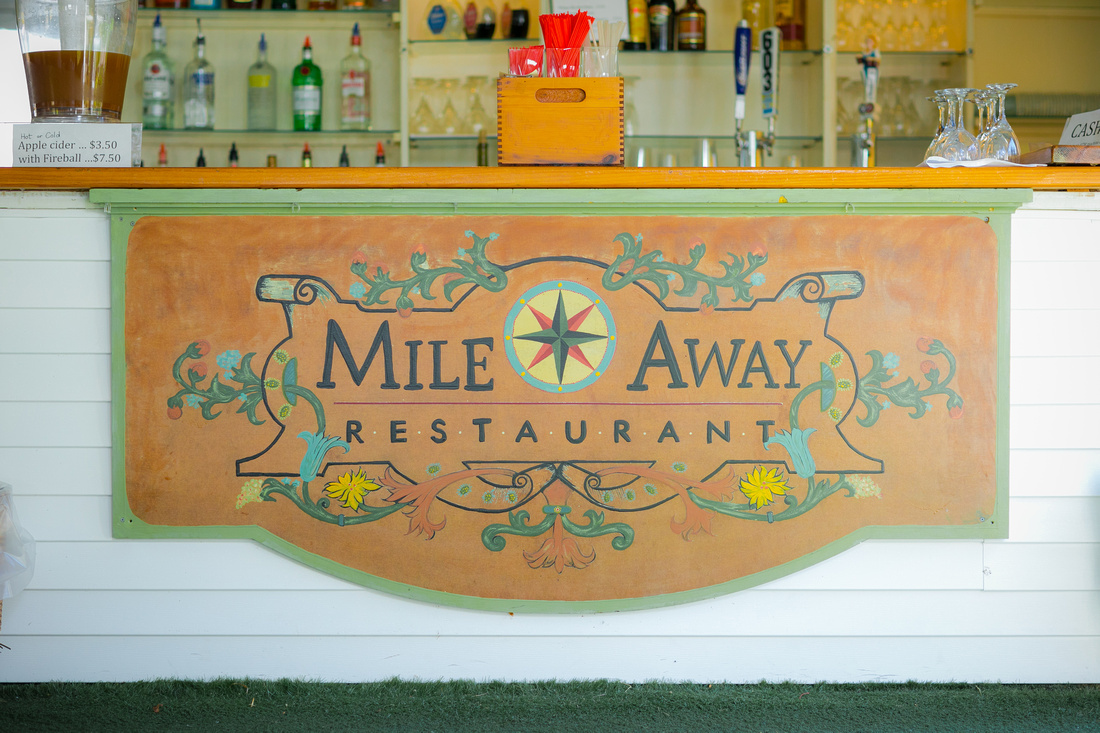 Mile Away Restaurant sign