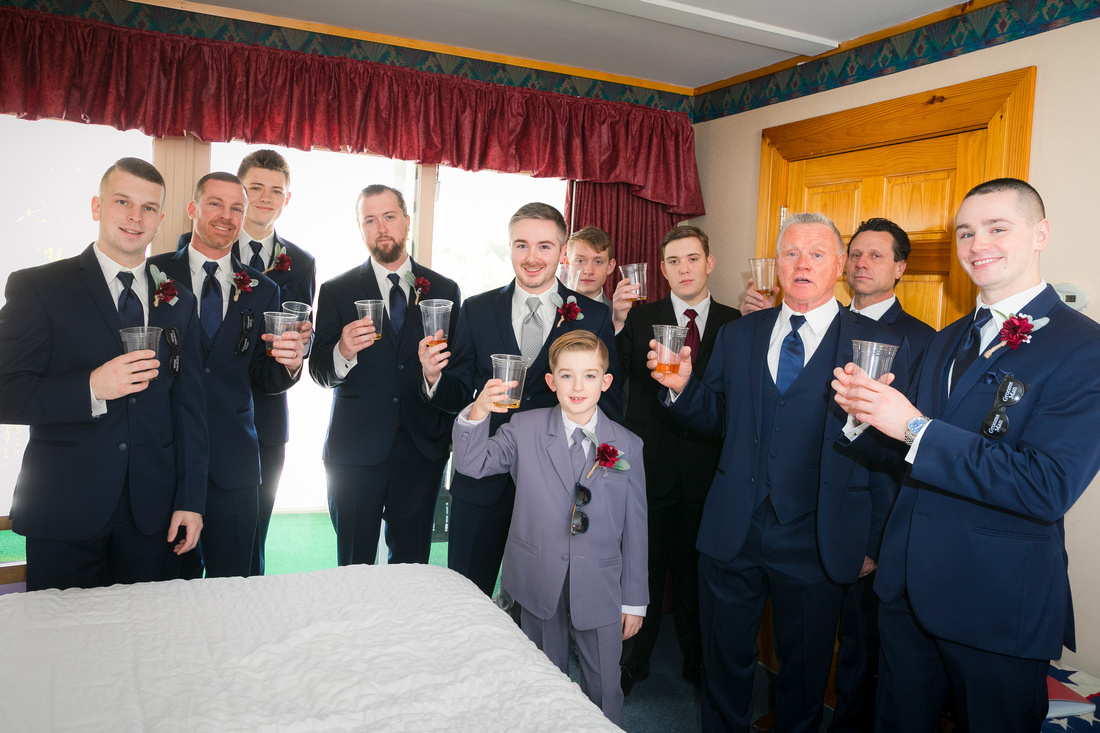 Groom and Groomsmen cheer